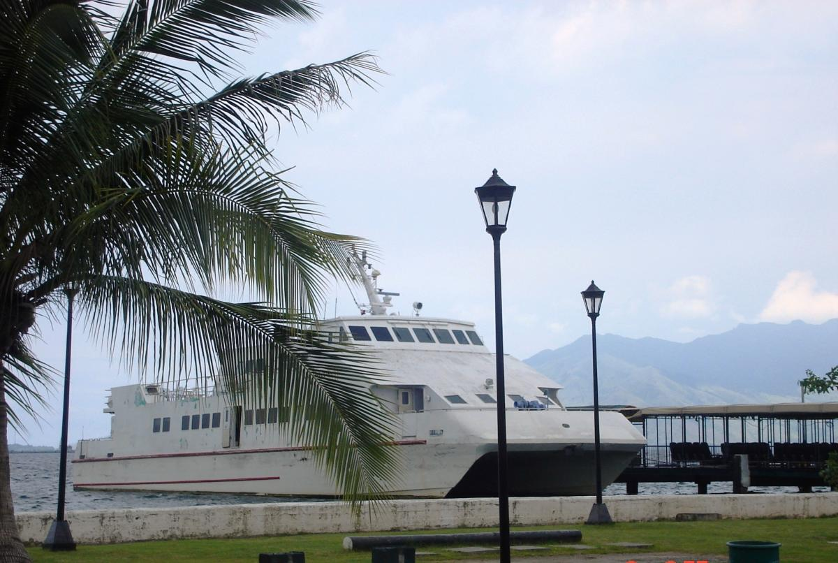 The Subic Bay area; a boat at the Bay. photos by author