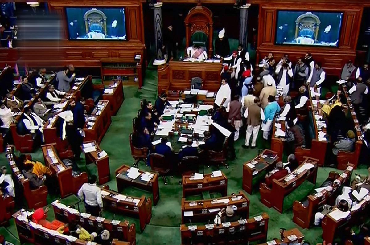 The proceedings of Lok Sabha on Tuesday were adjourned for nearly 20 minutes during Question Hour amid slogan shouting by Congress members over the Rafale issue. PTI file photo
