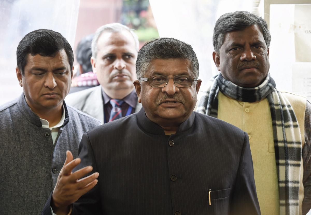 Union minister Ravi Shankar Prasad. (PTI File Photo)