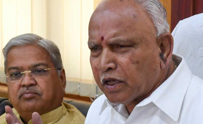 The BJP leaders seem to have realised their folly that the incident wherein Kumaraswamy is purportedly demanding Rs 25 crore to give party leader Vijugouda Patil (now in BJP) a ticket to the Legislative Council had made headlines five years back. The JD(S) was all set to embarrass the BJP to raking up an old issue. DH Photo.