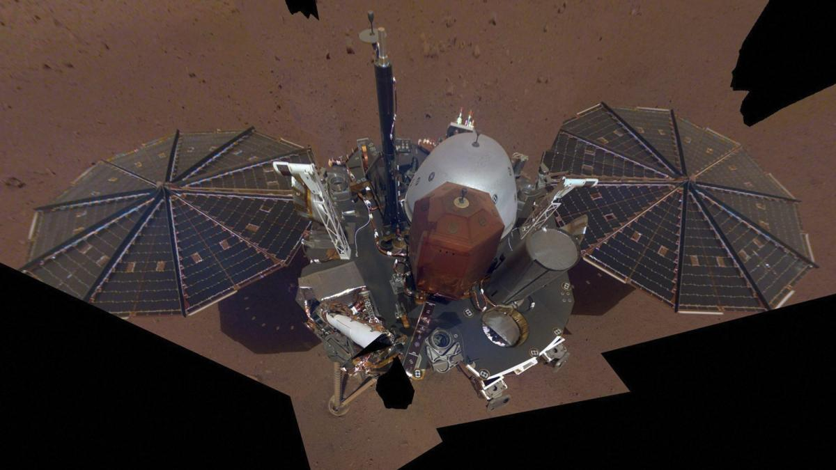 NASA : This composite image made available by NASA on Tuesday, Dec. 11, 2018 shows the InSight lander on the surface of Mars. (AP/PTI File Photo for representation)
