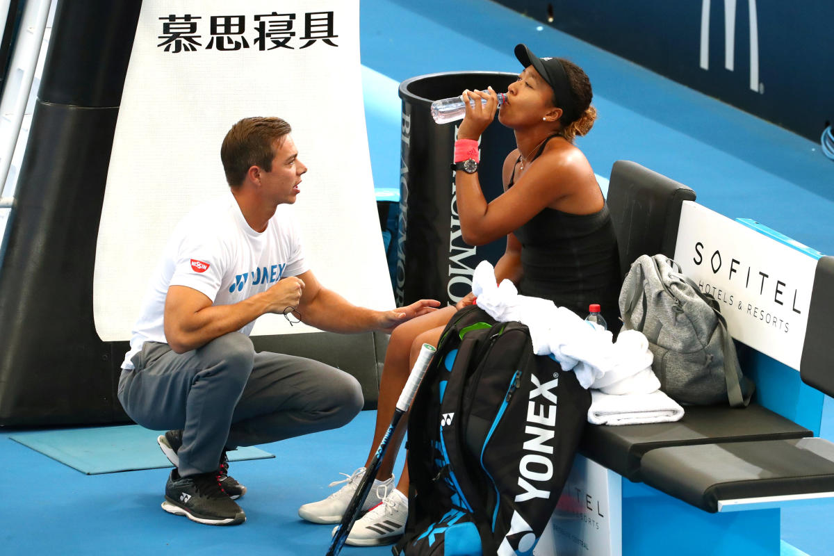 Naomi Osaka with coach Sascha Bajin. REUTERS