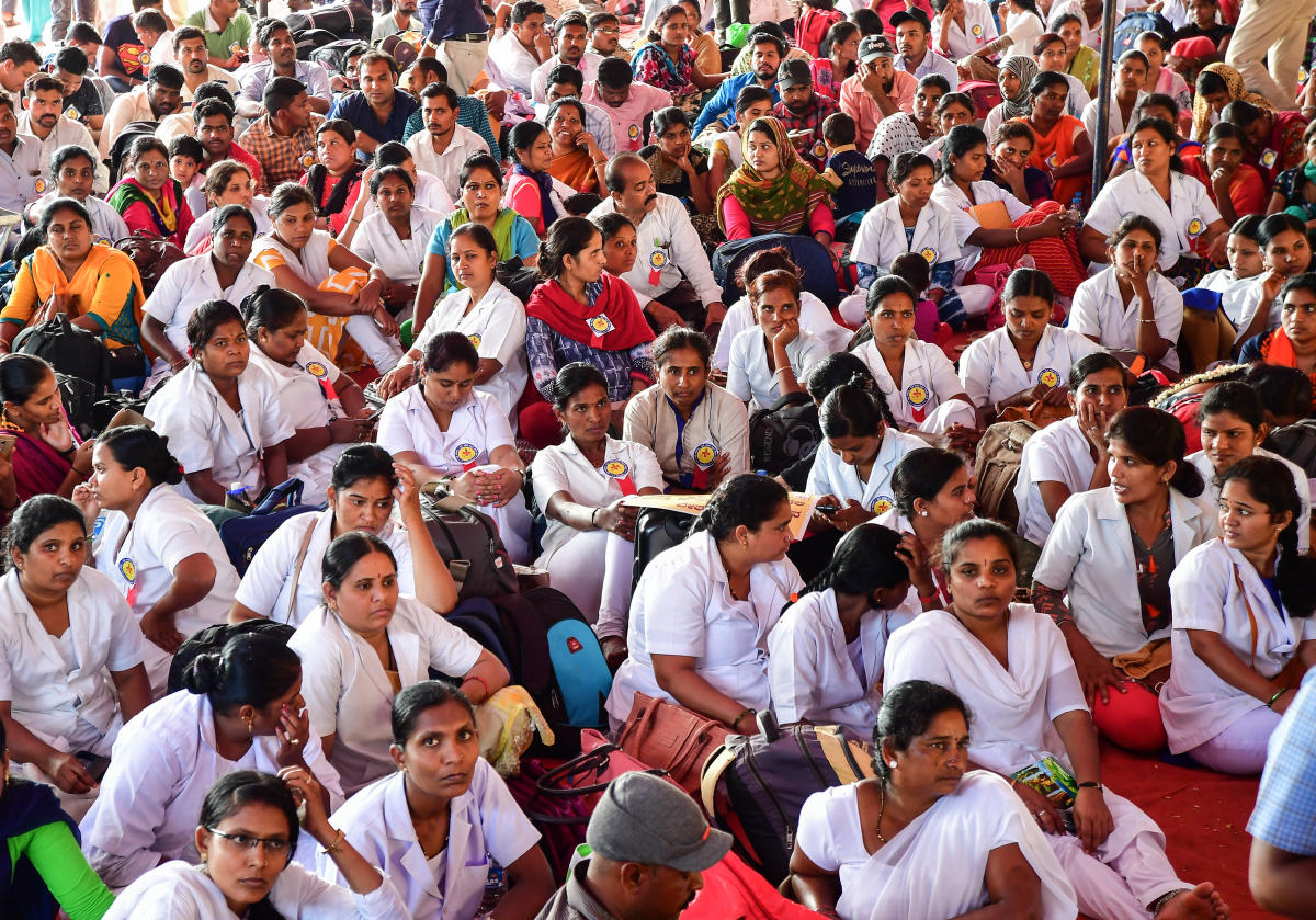 The strike crippled functioning of state-run health facilities such as district hospitals, community health centres and primary health centres across the state. DH Photo.