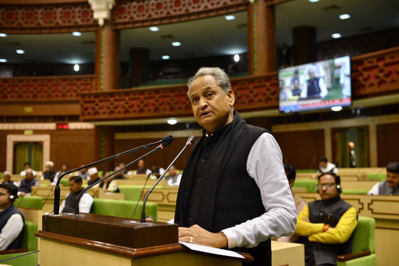 CM Ashok Gehlot led congress govt passes Gujjar reservation amendment bill in assembly. Photo by Suman Sarkar.