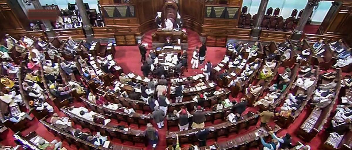 New Delhi: A view of the Rajya Sabha during Budget Session of Parliament in New Delhi, Wednesday, Feb. 13, 2019. (RSTV GRAB/PTI Photo) (PTI2_13_2019_000051B)