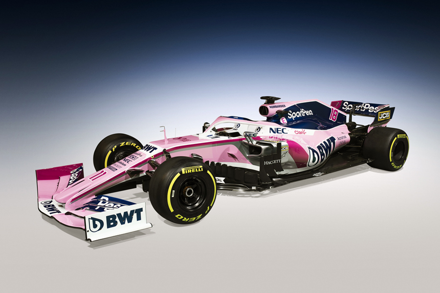 The Racing Point F1 Team car RP19. Picture credit: Racing Point F1 Team