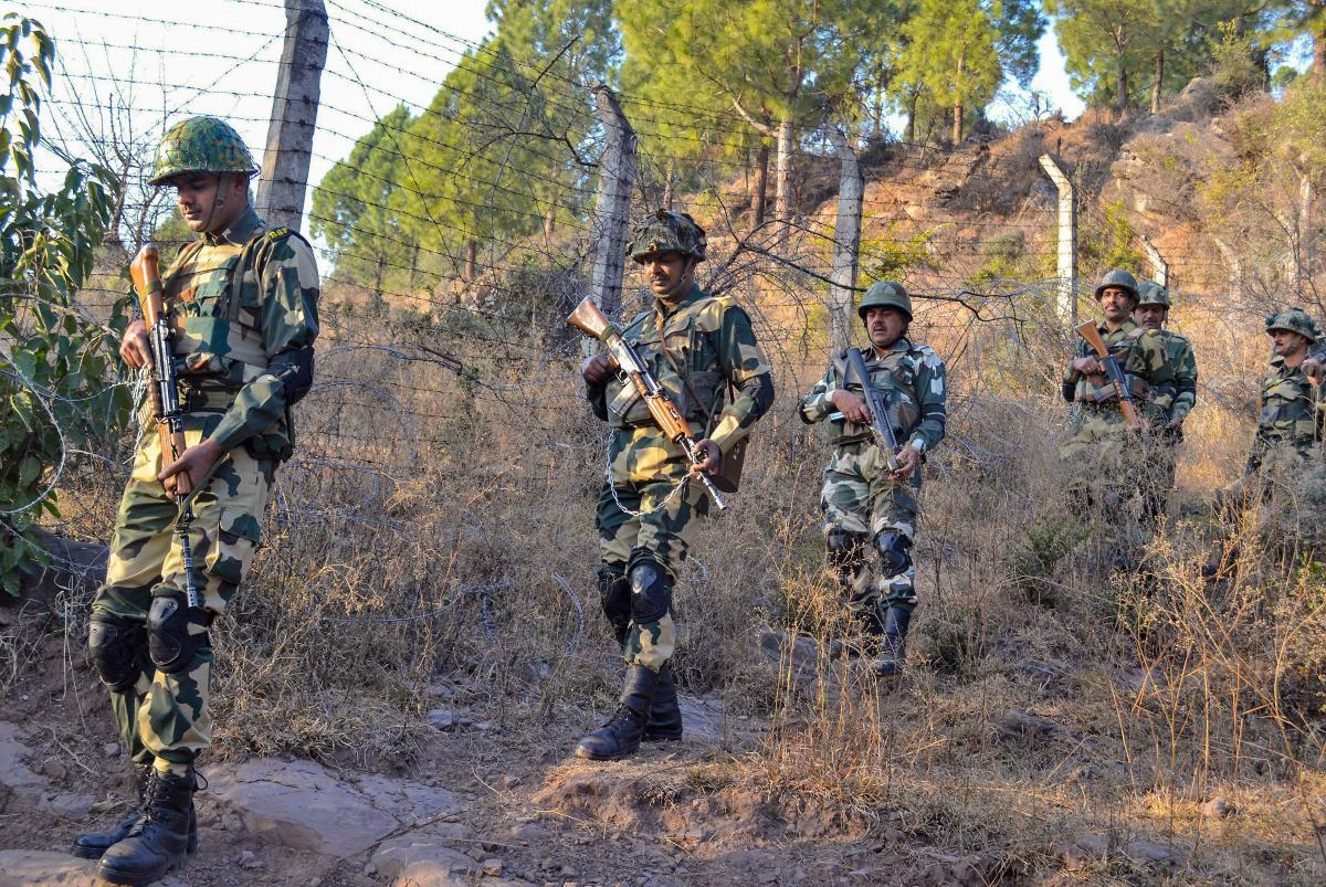 Border Security Force (BSF) jawans patrol near Line of Control (LoC) in Poonch. (PTI file photo)