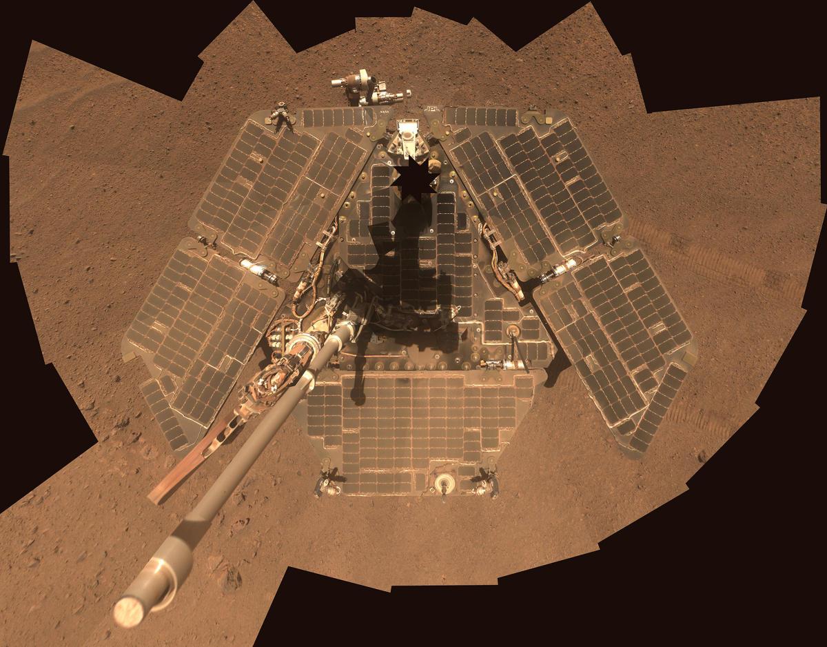 Handout photo of NASA's Mars Exploration Rover Opportunity