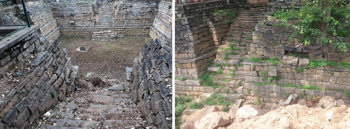 This is what the Kalyani (temple pond) in Gottigere, Bannerghatta Road, has been reduced to by the BBMP.