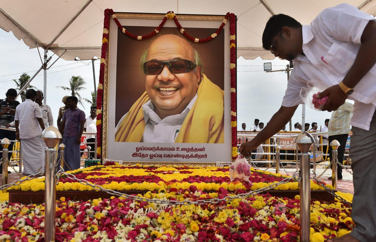 The BJP said Union Minister Nitin Gadkari and its national secretary Muralidhar Rao would represent the party at a memorial meeting for DMK supremo M Karunanidhi. PTI File Photo