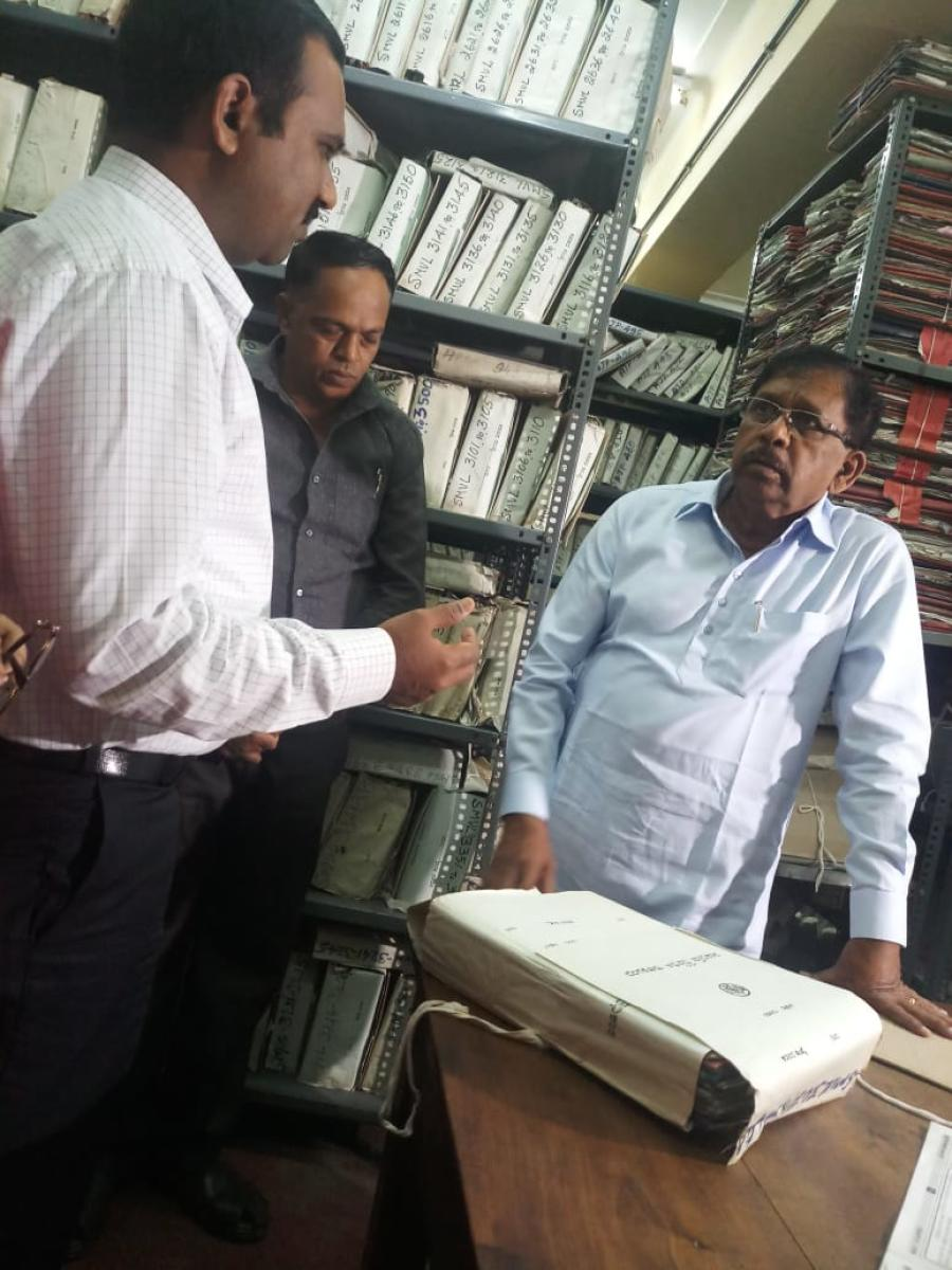 The squalid record room at the Bangalore Development Authority's (BDA) head office left Deputy Chief Minister G Parameshwara appalled on Saturday.