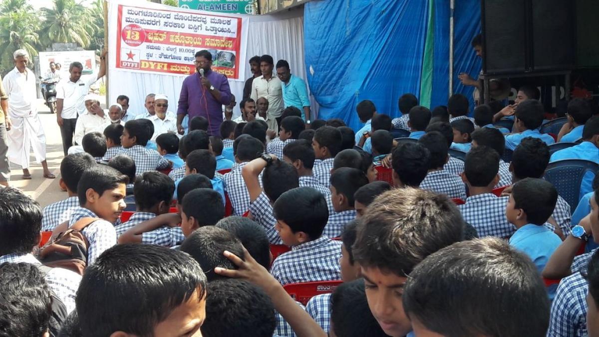 Villagers demand KSRTC bus service
