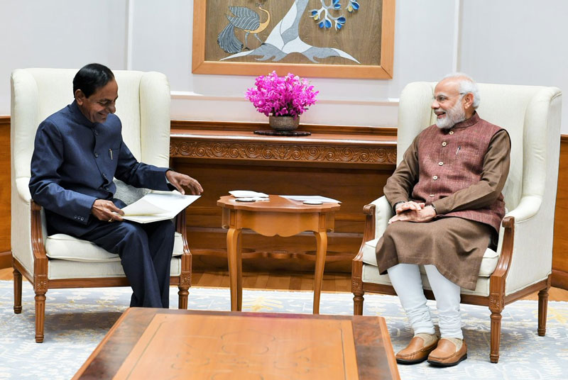 This was Rao's first meeting with Modi after the former won the assembly elections to return to power in Telangana. (Image: PIB/Twitter)