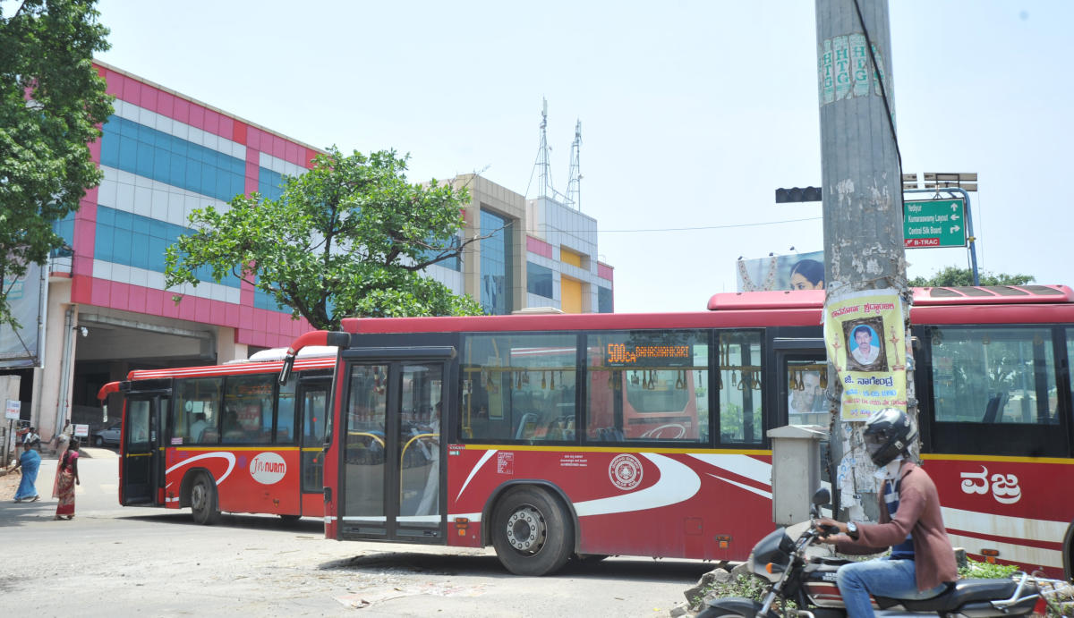 The BMTC Volvo buses ferry tech park employees twice a day. The rest of the time, they operate for the general public.
