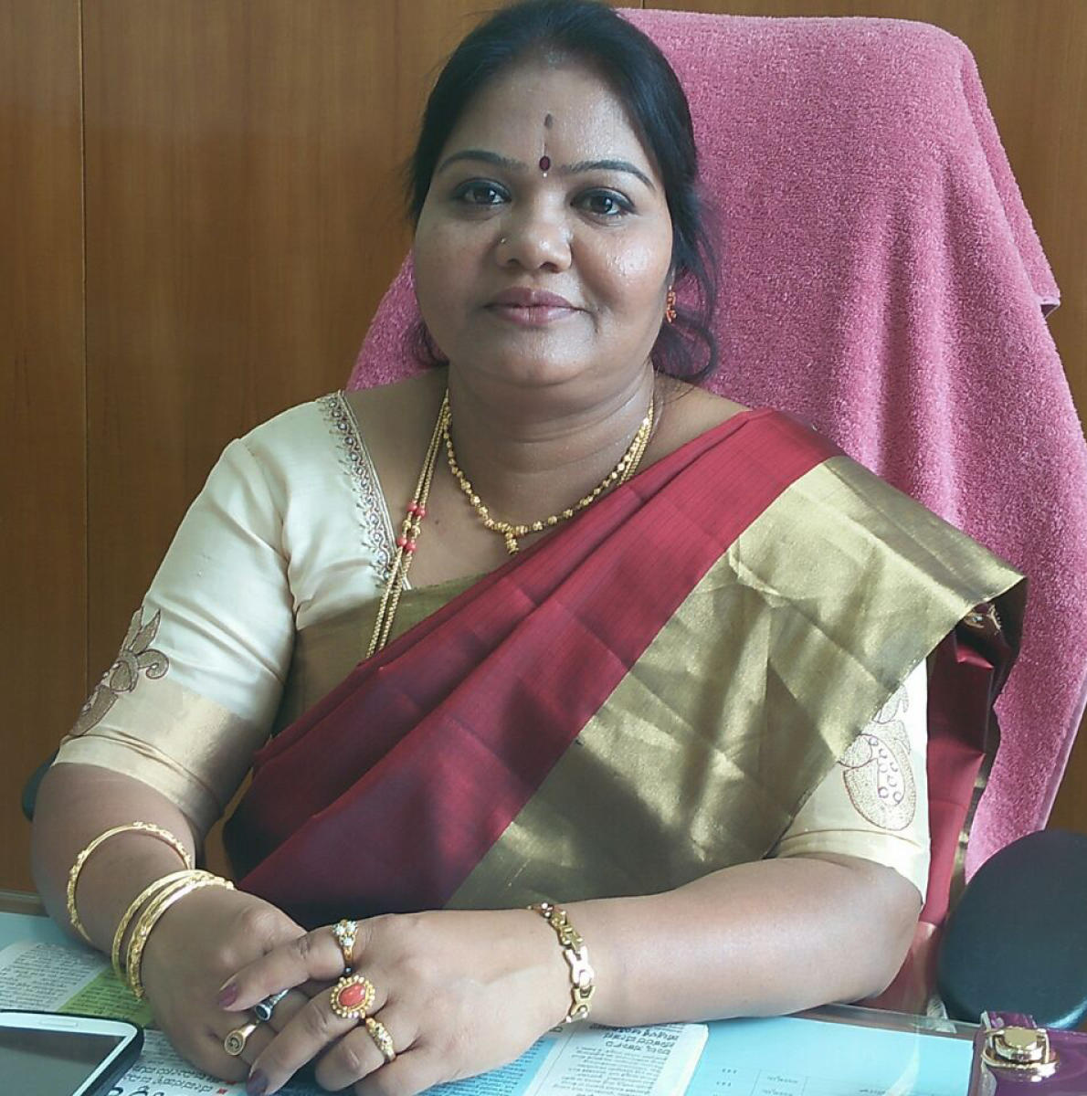 Corporator M Gayathri