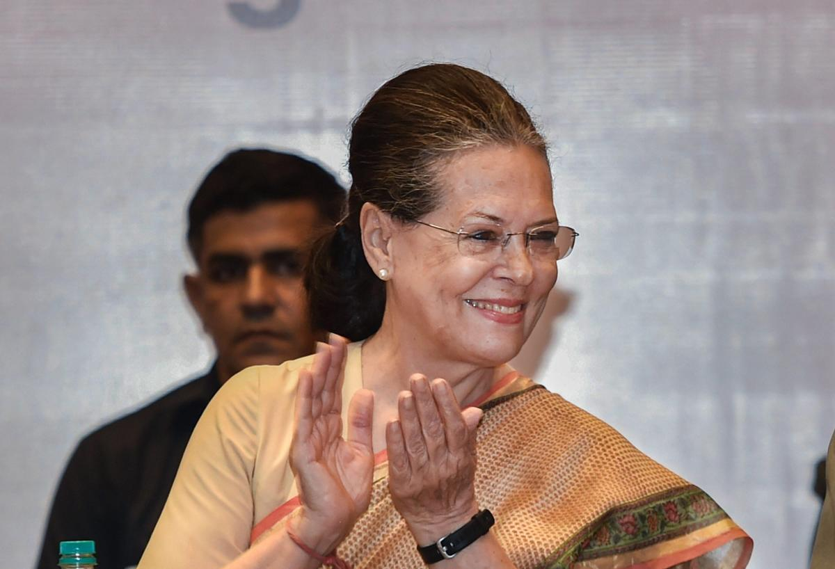Congress president Sonia Gandhi may address a few rallies in Telangana where the party has aligned with the TDP, CPI and a regional outfit to take on TRS supremo and Chief Minister K Chandrasekhar Rao. (PTI File Photo)