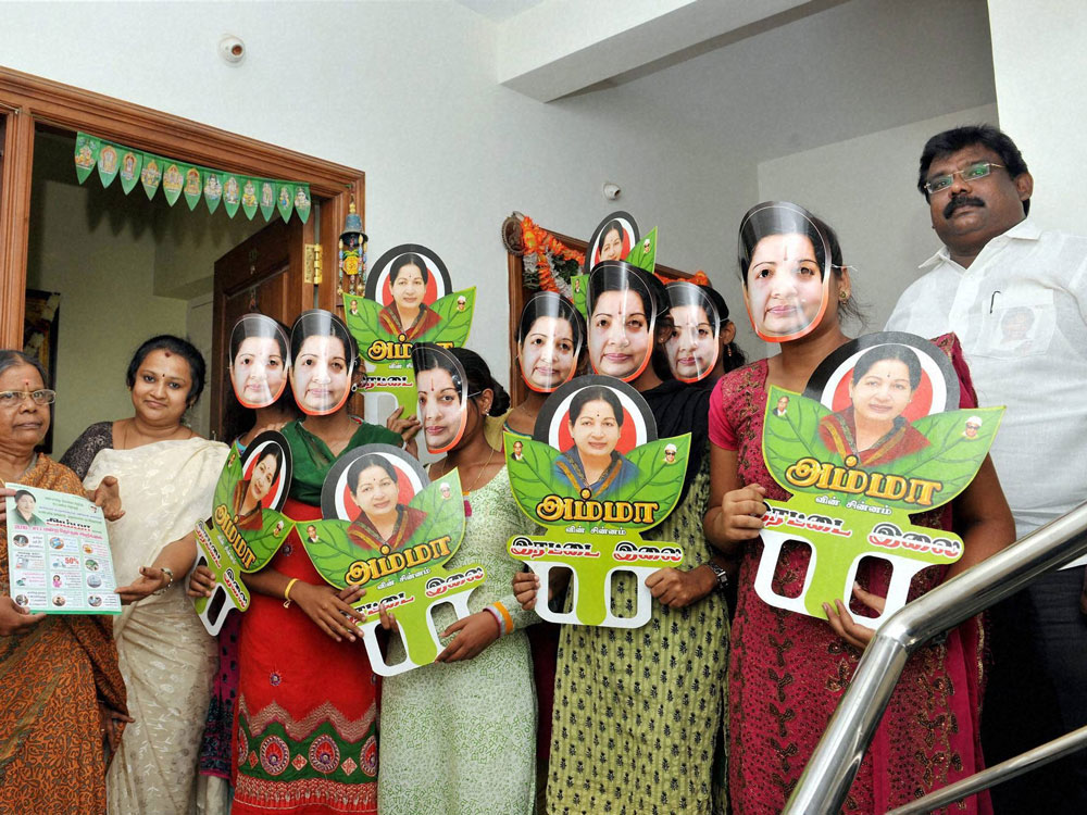 AIADMK camps not allowed to use party symbol