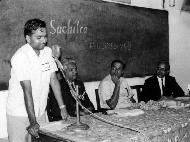 HN Narahari Rao, Nani VN, Subba Rao and N Lakshminarayan at inauguration of Suchitra Film Society in 1971.