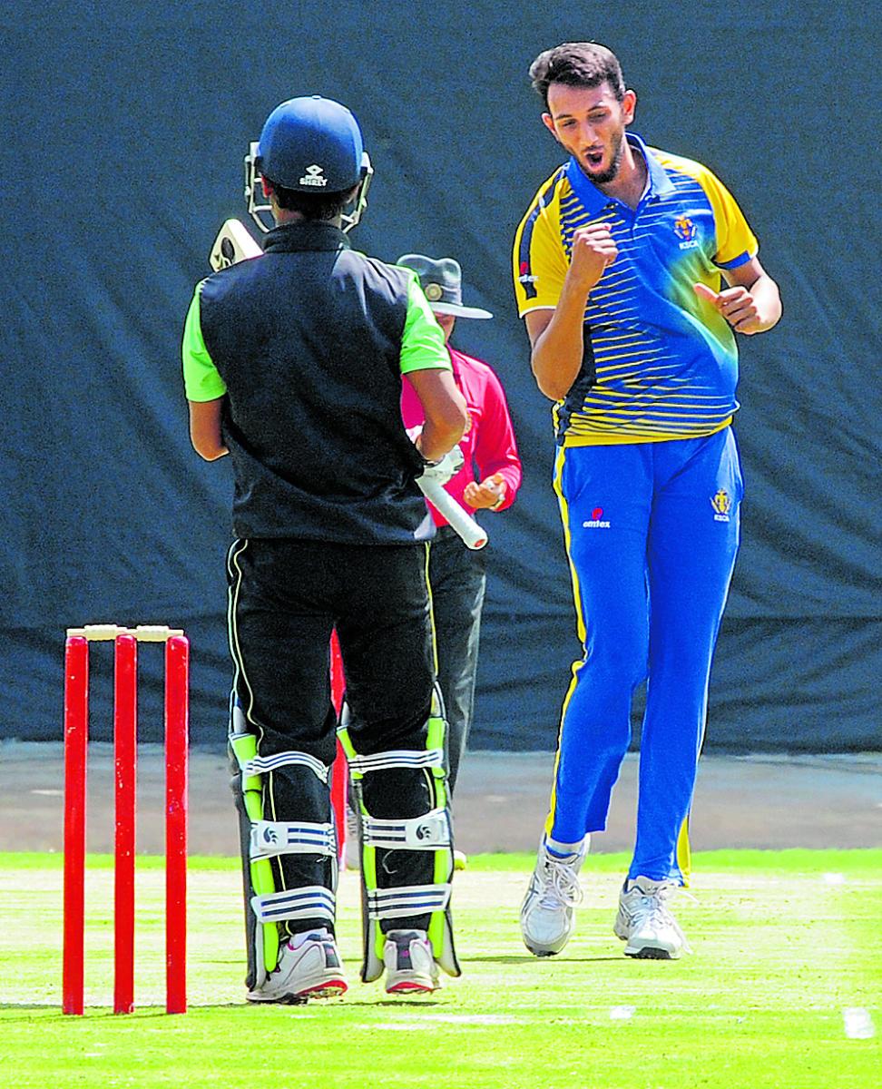Karnataka paceman Prasidh Krishna claimed three wickets against Haryana.