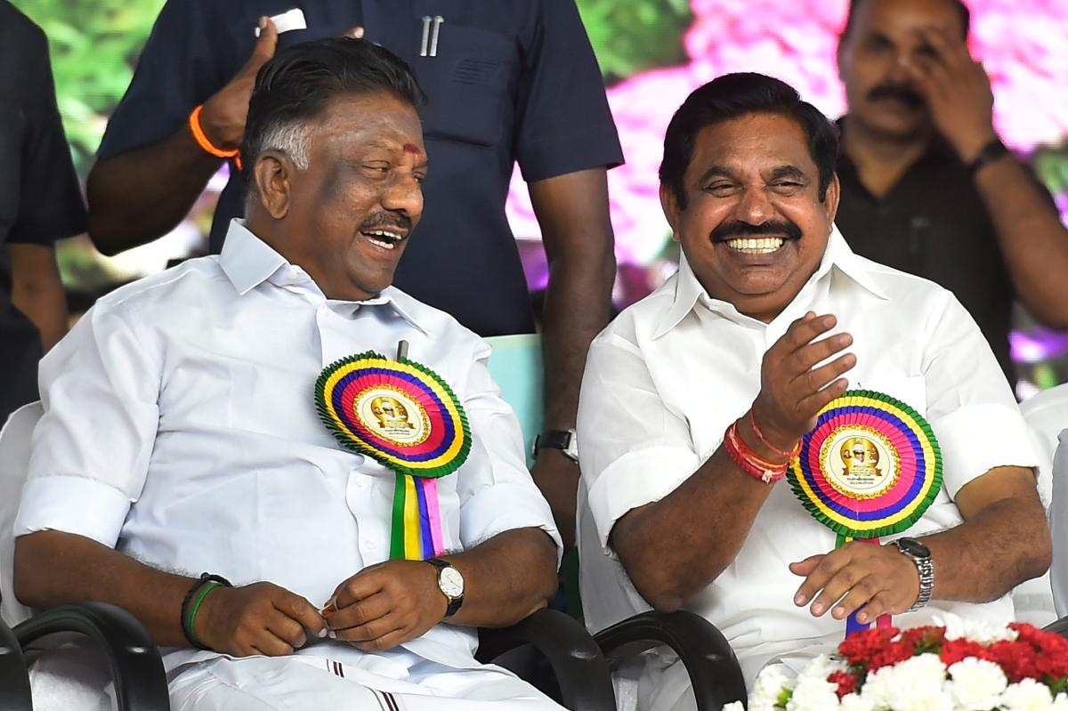 Tamil Nadu Chief Minister K Palaniswami and Deputy Chief Minister O Panneerselvam. PTI File Photo