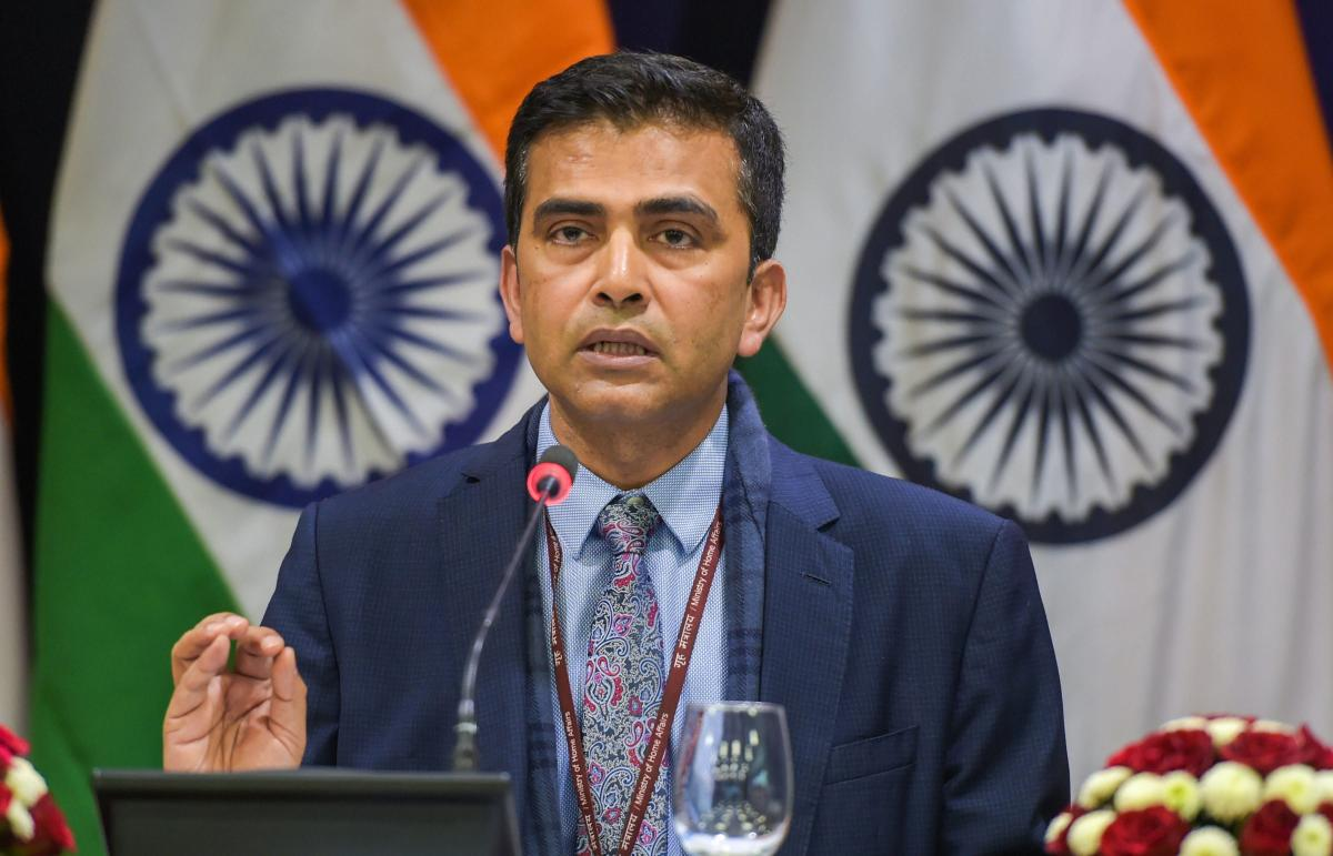 """As regards the resolutions on Jammu and Kashmir, our stand is consistent and well known. We reaffirm that Jammu & Kashmir is an integral part of India and is a matter strictly internal to India,"" Spokesperson in the Ministry of External Affairs (MEA) Raveesh Kumar said. (PTI File Photo)"