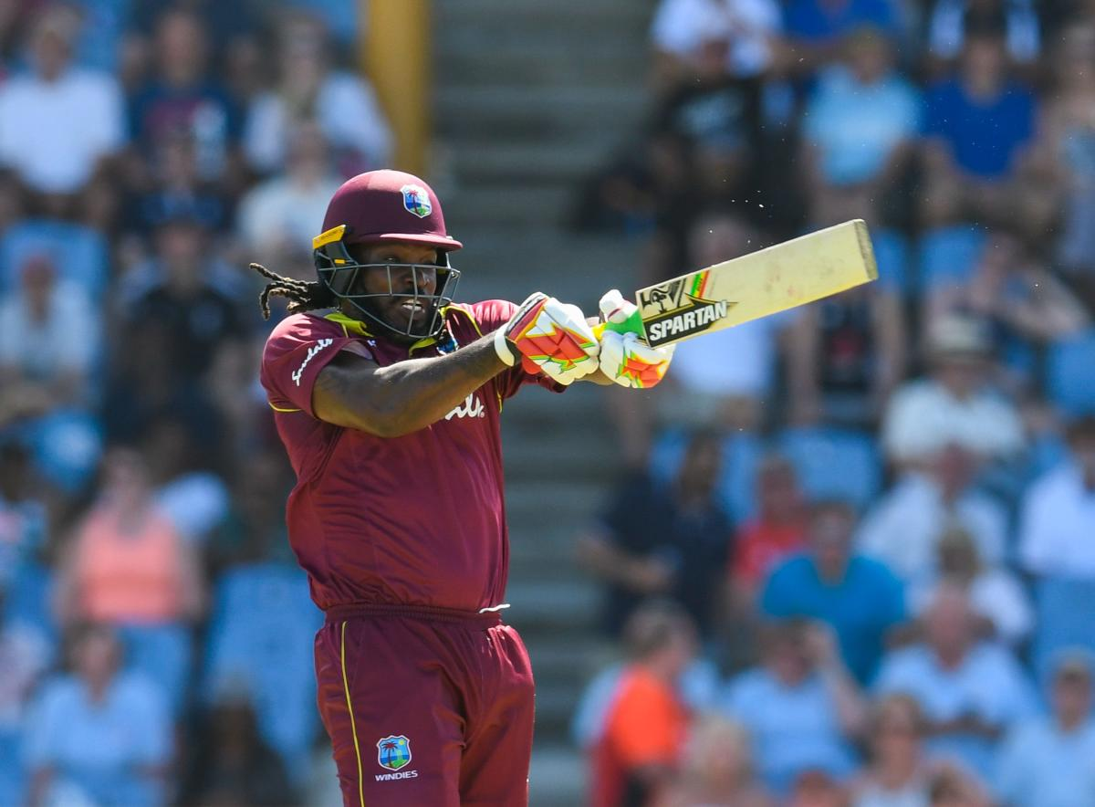 SLAYING IT: Chris Gayle felt West Indies will get a bit of respect going into the World Cup after their good show against England in the five-match ODI series. AFP