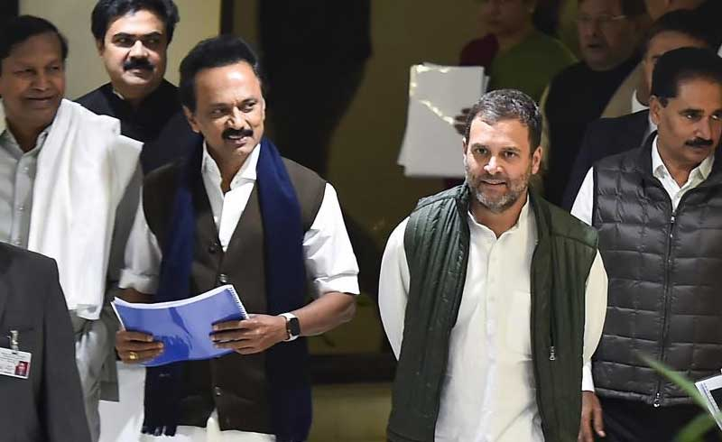 The DMK has already announced that it will contest the Lok Sabha polls in alliance with the Congress. (PTI File Photo)