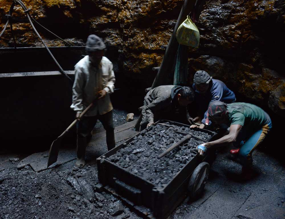Four miners have been killed following mudslides at an illegal coal mine at Yonglok village in Longleng district of Nagaland, police said on Monday. DH file photo for representation only