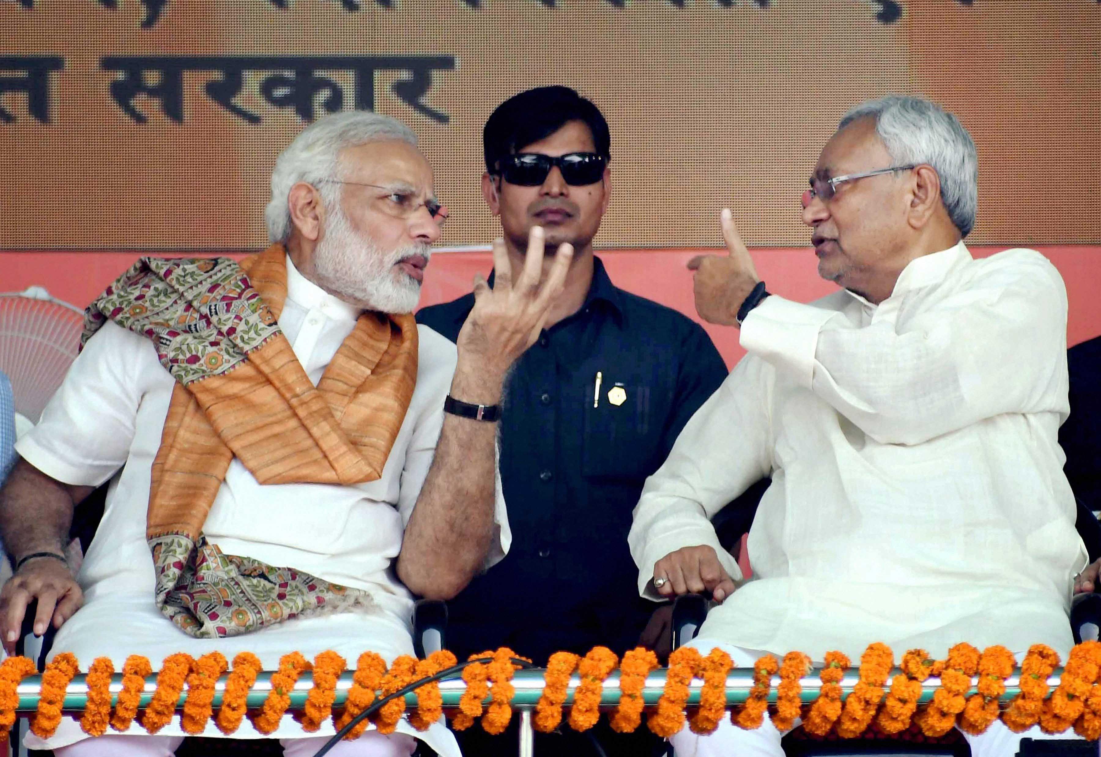 Prime Minister Narendra Modi with Bihar Chief Minister Nitish Kumar. (PTI File Photo)