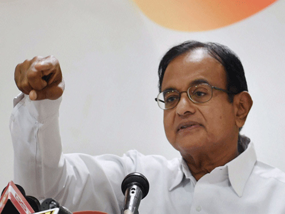 Former Union Finance Minister and Congress leader P Chidambaram. PTI file photo