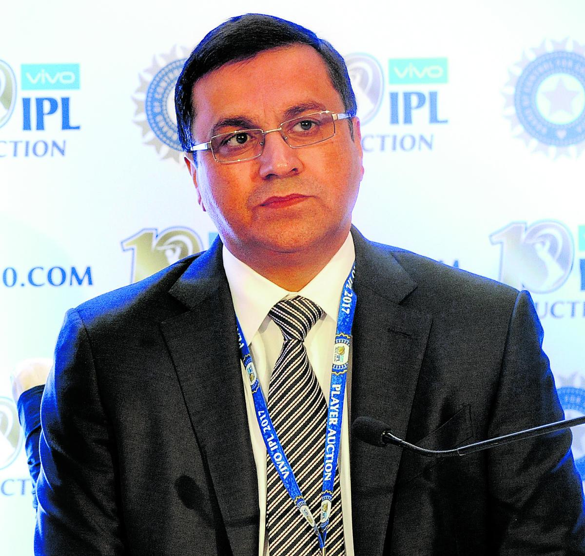 BCCI CEO Rahul Johri during the IPL auction in Bengaluru. DH FILE PHOTO/Srikanta Sharma R