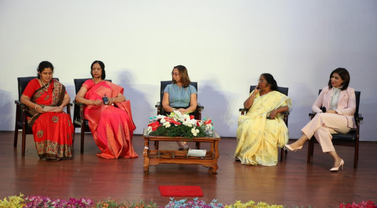 (From left) Indira Reddy, Shafryne Sayan,Geetha Ramanujam and Ishiqa Multan discussed a range of issues holding women back from progressing in their careers.