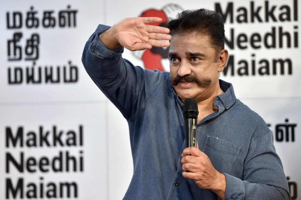 Makkal Needhi Maiam (MNM) president and actor Kamal Haasan. PTI