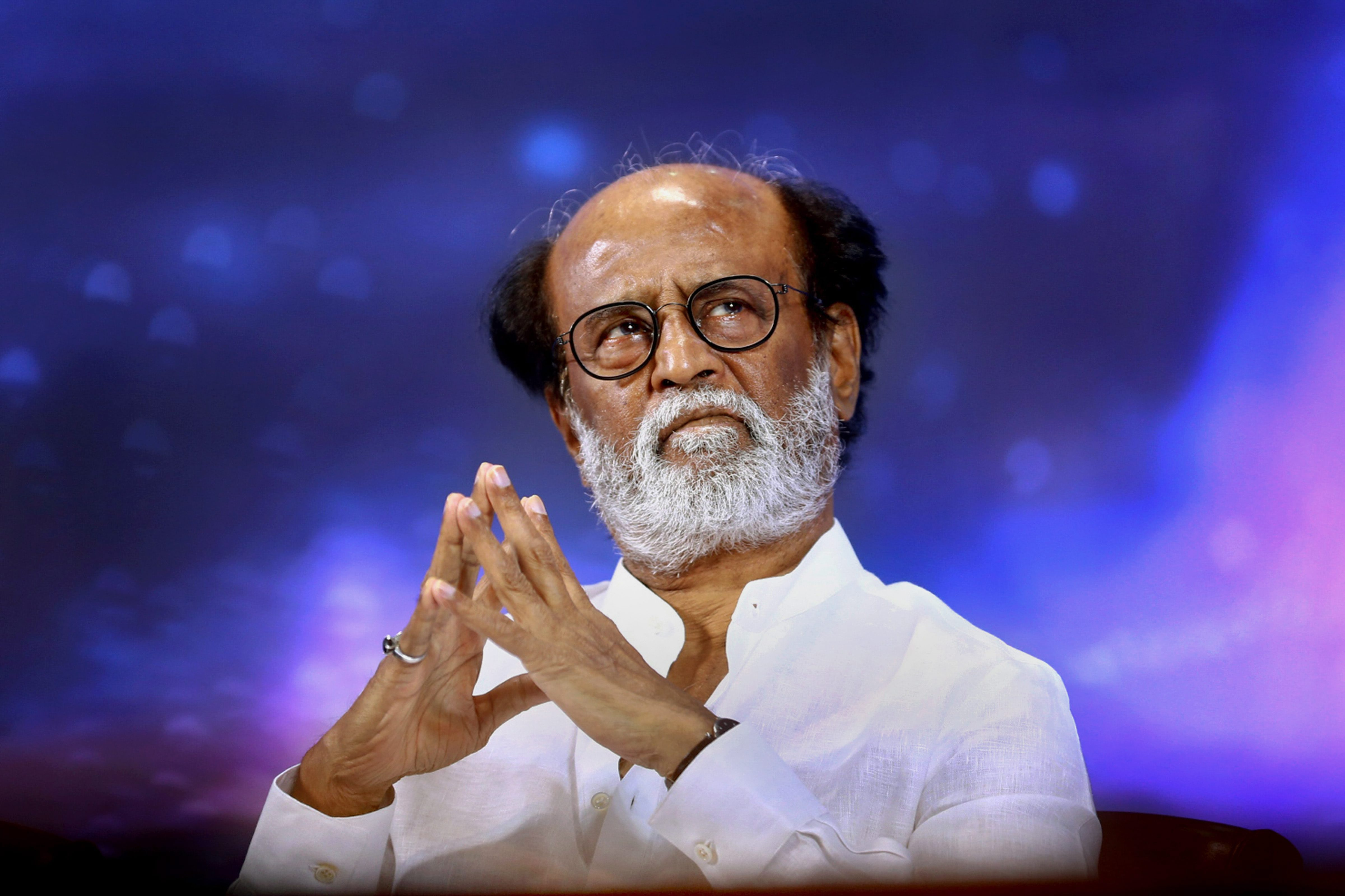 "Actor Rajinikanth in a statement without naming the DMK, said: ""no force"" can separate him from his fans and urged his followers to tread the path of fairness. PTI file photo"