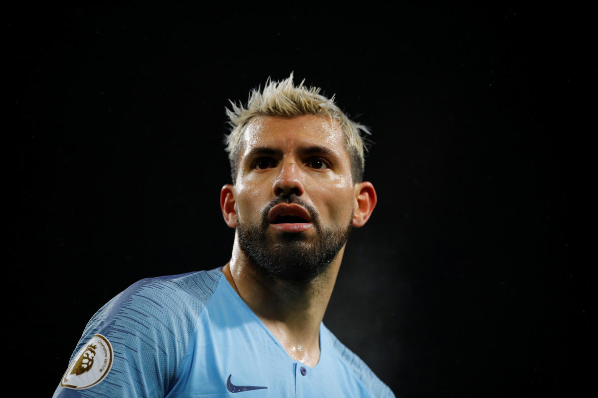 Manchester City's Sergio Aguero will look to continue his goal-scoring spree when they meet FC Schalke at the Etihad Stadium on Tuesday. Reuters file photo