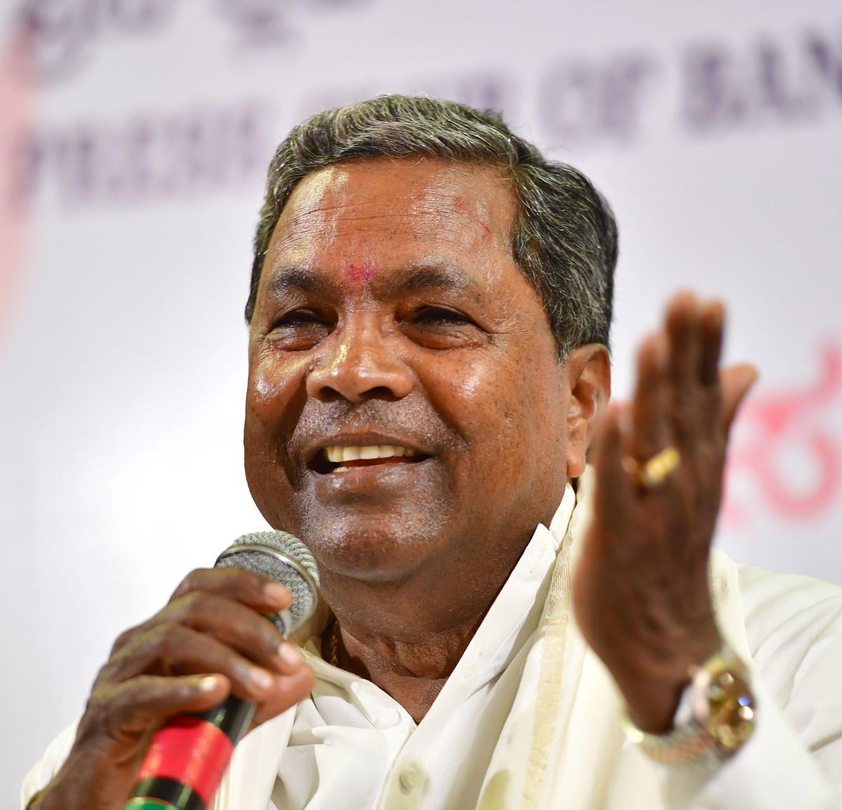 """Discussion is going on between both the parties. We will resolve it amicably"", Siddaramaiah said. File photo"