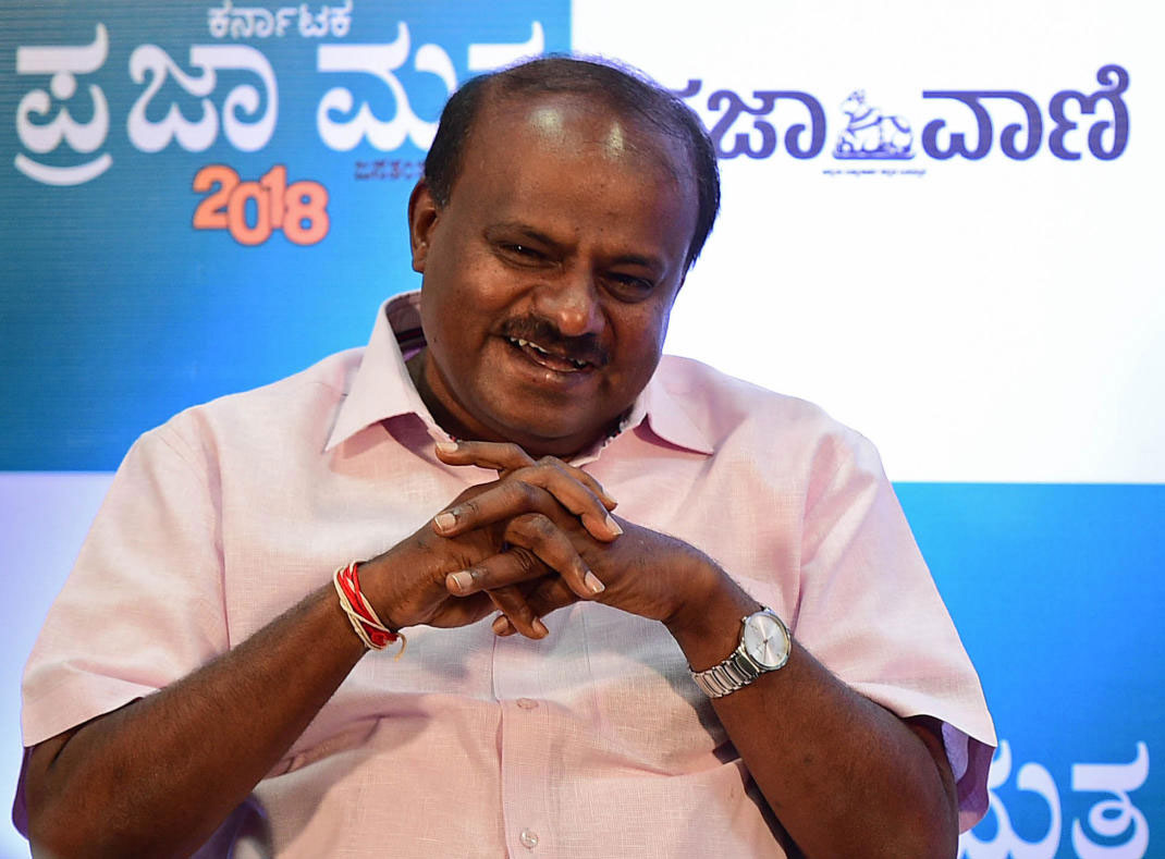 In picture: Chief Minister Kumaraswamy. DH Photo.