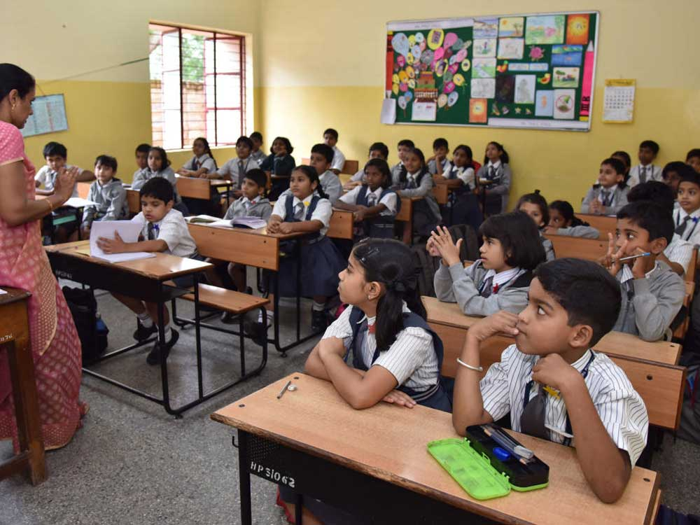 The education department has withdrawn a notification on draft rules pertaining to admissions into minority schools. DH file photo