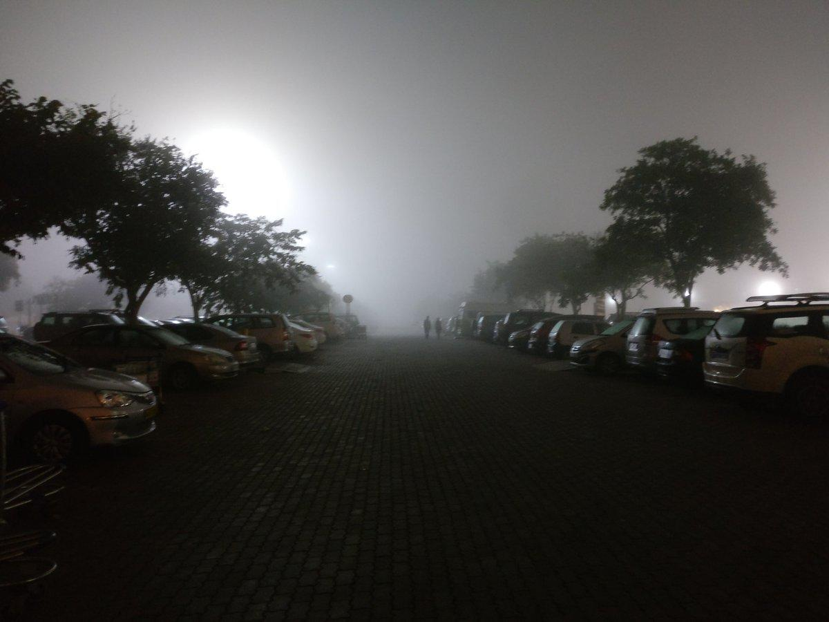 Fog at the Kempegowda International Airport. DH File