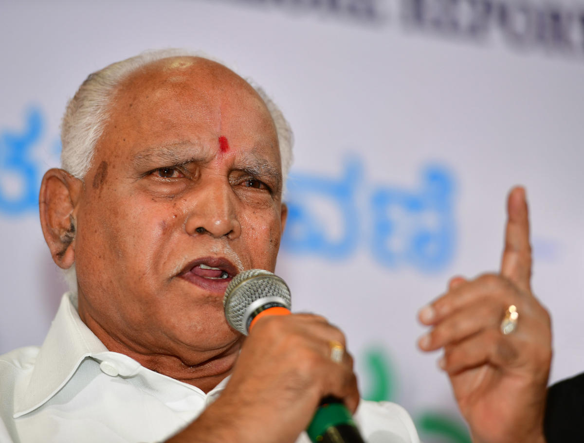 """Yeddyurappa said the allegations that the Bharatiya Janata Party (BJP) was trying to poach Congress MLAs were """"far from the truth"""". DH File Photo"""