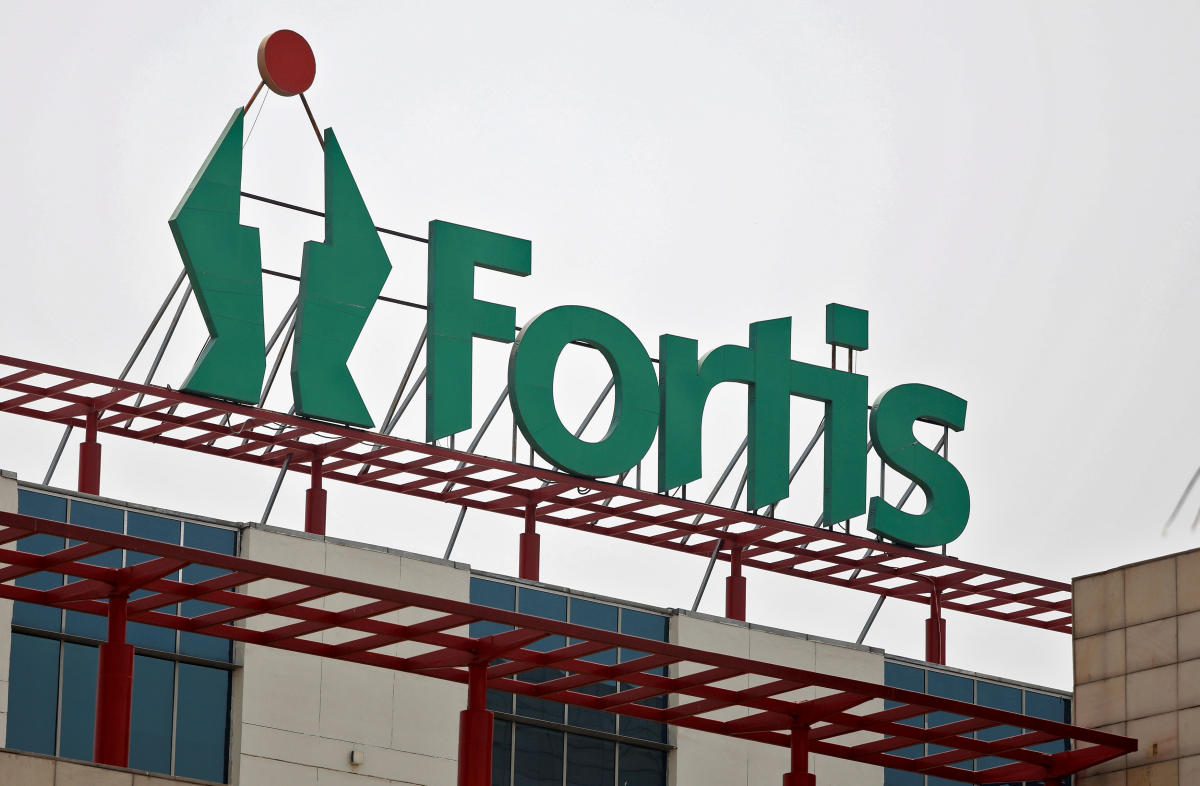 A Fortis hospital building is pictured in Gurugram. REUTERS