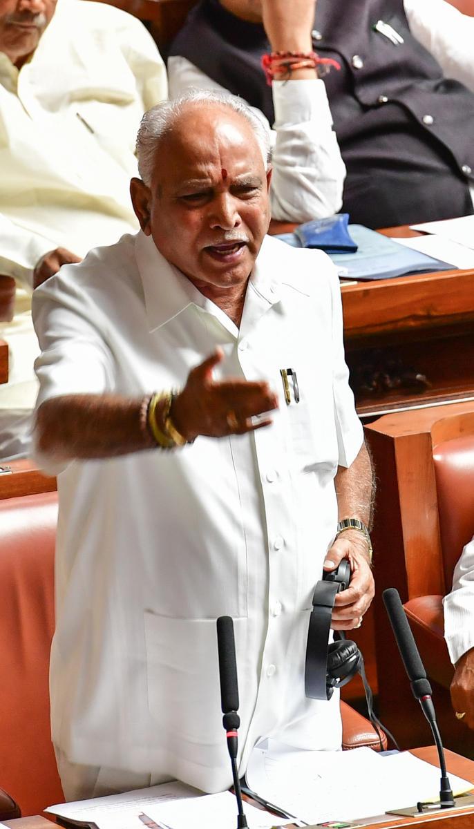 State BJP President B S Yeddyurappa. DH file photo.
