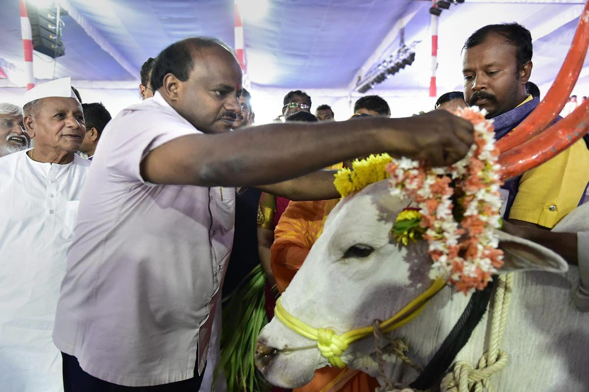 """Calling Karnataka Chief Minister H D Kumaraswamy an """"Accidental CM"""", the opposition BJP has taken a jibe at him over his Singapore visit to celebrate the new year, at a time when most parts of the state are reeling under drought. PTI file photo"""