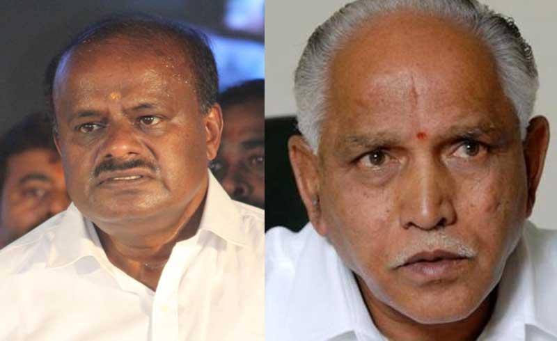 Chief Minister H D Kumaraswamy and BJP president B S Yeddyurappa. (DH file photos)