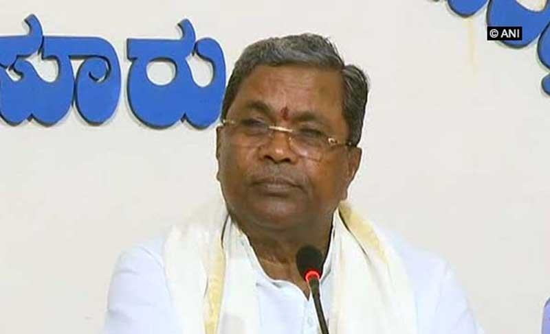 Chief Minister Siddaramaiah. ANI photo.
