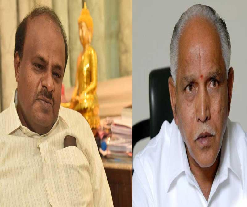 Chief Minister H D Kumaraswamy and BJP state president B S Yeddyurappa locked horns on Friday over poaching of legislators.