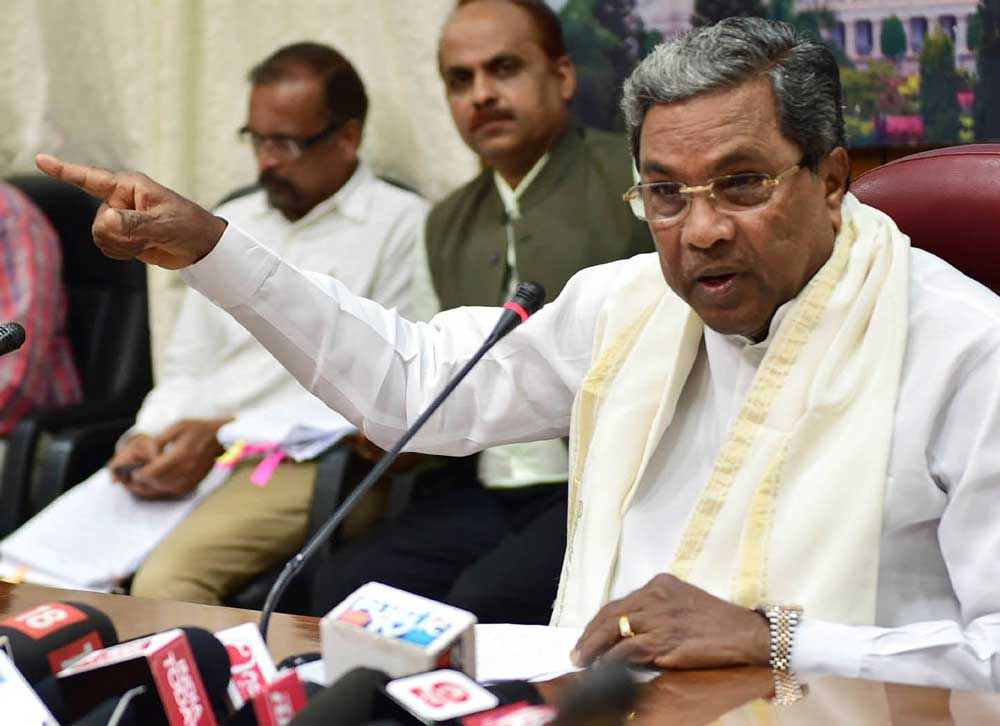 Former chief minister Siddaramaiah, on Saturday, said that the BJP is misleading the people and is levelling false allegations against him over the misuse of Rs 35,000 crore during his tenure as chief minister. DH file photo