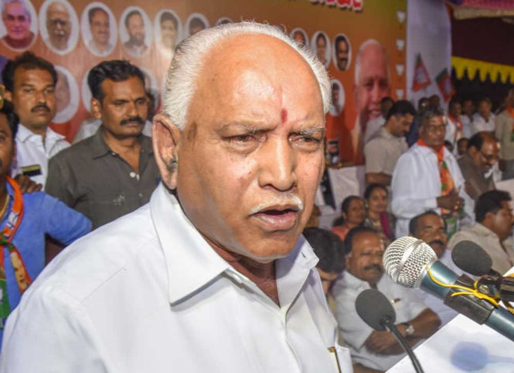 BJP's chief ministerial candidate B S Yeddyurappa filed his nomination papers for the Shikaripura Assembly constituency. (DH file photo)