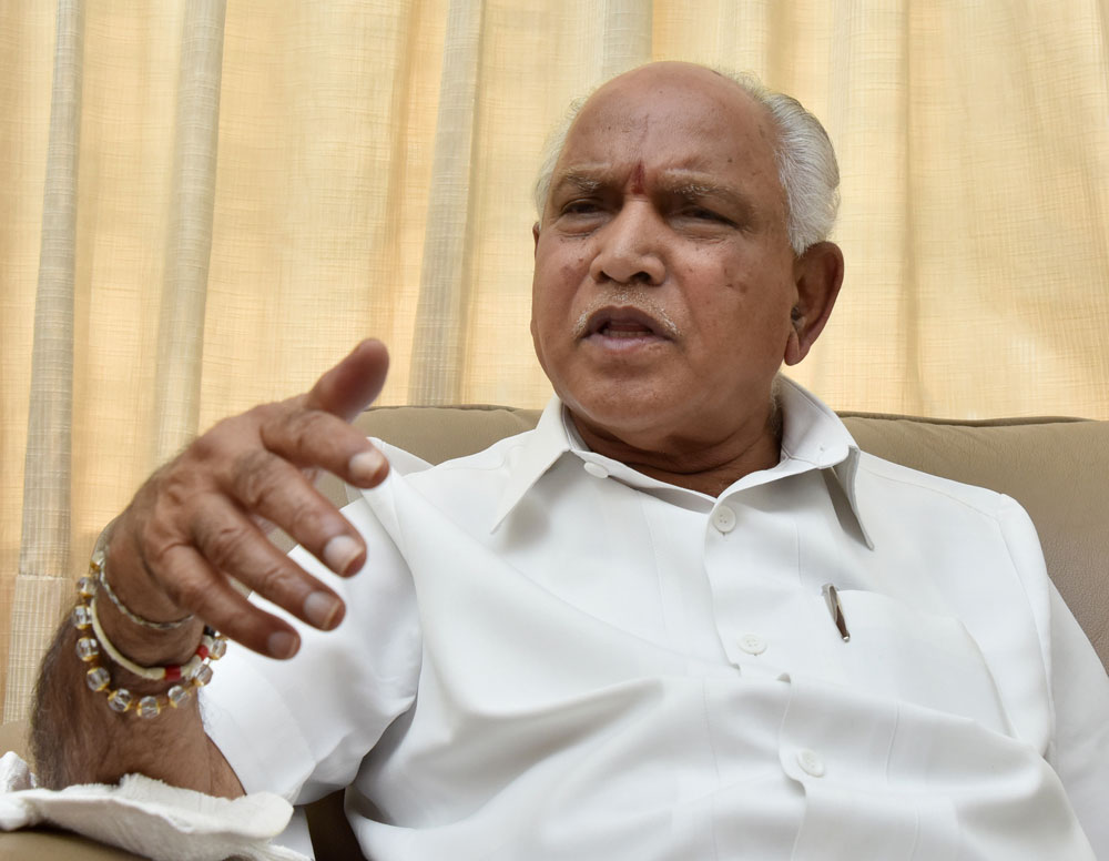 Karnataka BJP chief B S Yeddyurappa today said he was ready to contest against Chief Minister Siddaramaiah from Badami if the party's national president Amit Shah asked him to do so. DH file photo