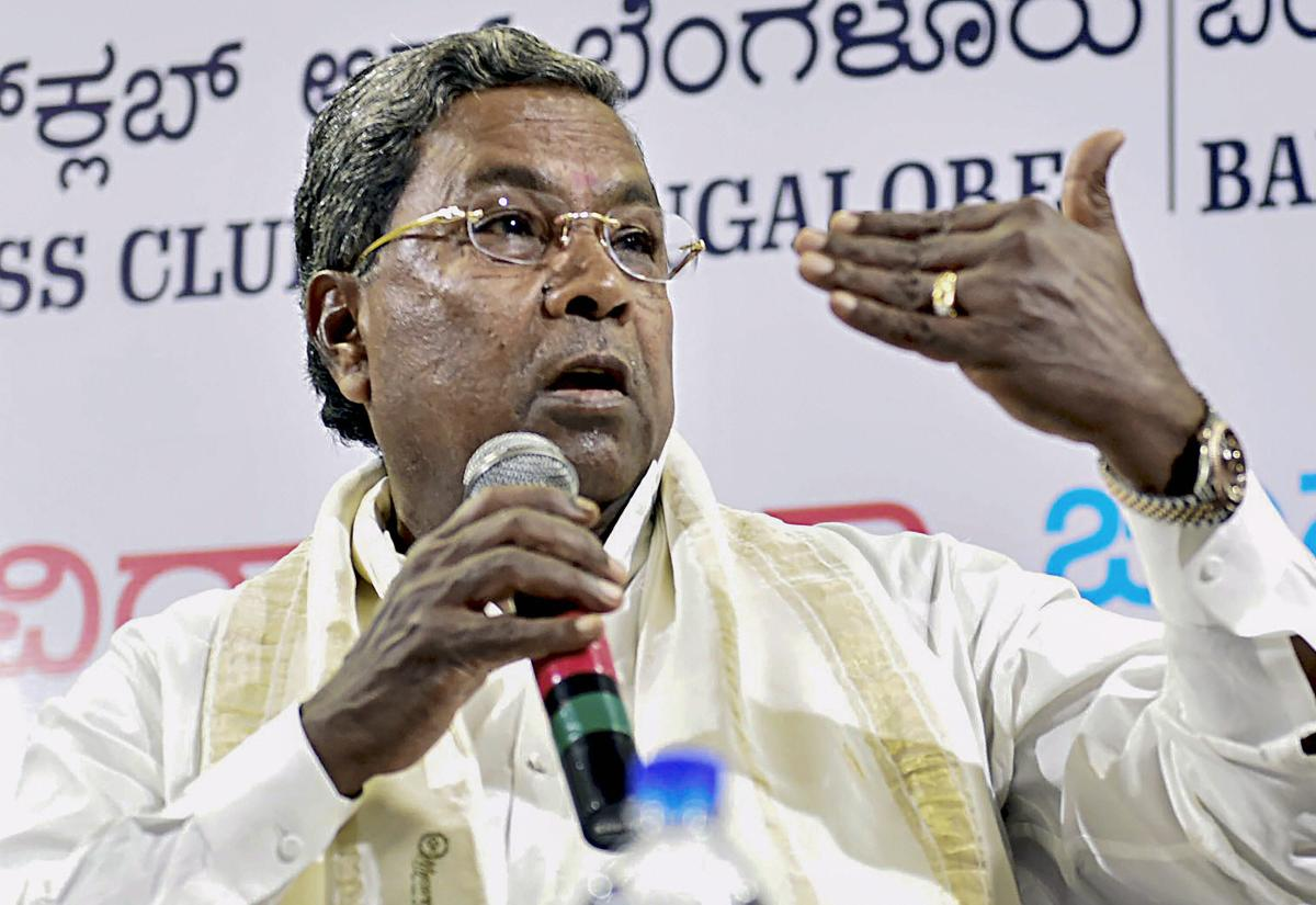 """""""Let's see if there are blessings of the people in the next elections,"""" was senior Congress leader Siddaramaiah's refrain on Friday when asked if he wants to become Karnataka chief minister again even though he asserted he has no such """"greed"""". PTI file p"""